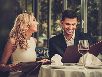couple at restaurant