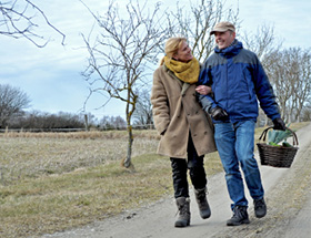 older couple out walking