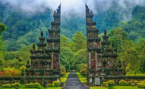 Beautiful scene in Bali