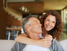 Mature couple finding love