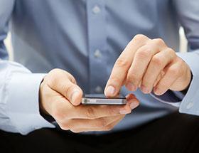 man on his smart phone