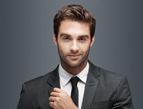 rich handsome man in suit