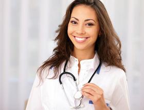 happy nurse smiling